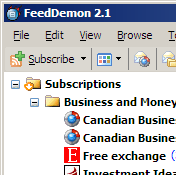 FeedDemon, showing the unidentified thingy
